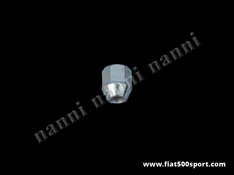 Art. 0107B - Dado conico ruote Fiat 500. - Dado conico ruote Fiat 500 Fiat 126 prima serie (interasse dei bulloni 190 mm.) Si applica alle ruote con sede conica. Filetto 10×1,5.