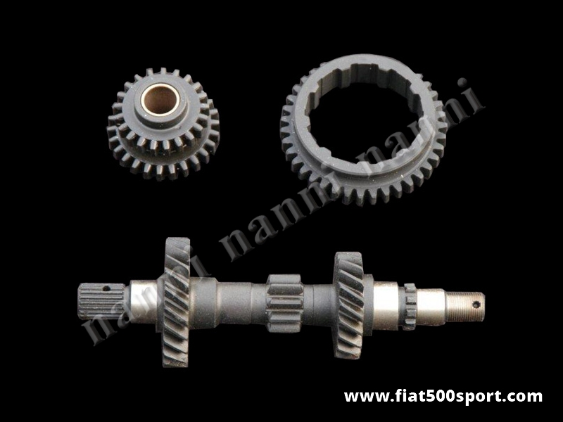 Art. 0120A - Fiat 500 F L original gears kit. - Fiat 500 F L original gears kit. (original first gear, reverse gear and main shaft gearbox).