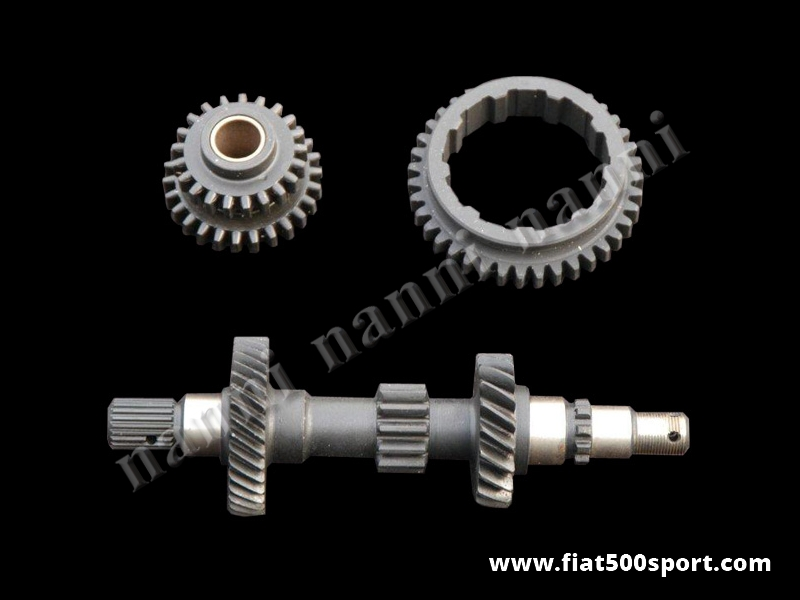 Art. 0120B - Fiat 126 original gears kit. - Fiat 126 original gears kit ( original first gear, reverse  gear and main shaft gearbox ).