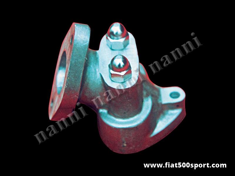 Art. 0132 - Collettore Fiat 500 Fiat 126 NANNI per carburatore Dell'Orto FZD con dadi e perni difissaggio - Collettore d'aspirazione Fiat 500 Fiat 126 NANNI per carburatore inclinato Dell'Orto FZD 32/28 ,FZD 32/26, FZD 30/24, con dadi e perni di fissaggio.
