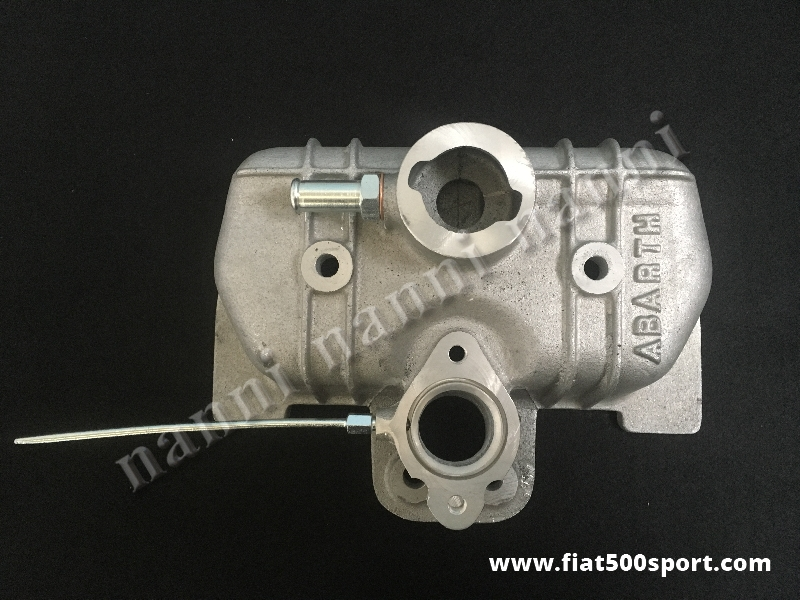 Art. 0139 - Fiat 500 Fiat 126 Abarth light alloy valve cover with inlet manifold for the carburettor Solex 32-34 PBIC. - Fiat 500 Fiat 126 Abarth  light alloy valve cover with inlet manifold for the carburettor Solex 32-34 PBIC and special screws and nuts.