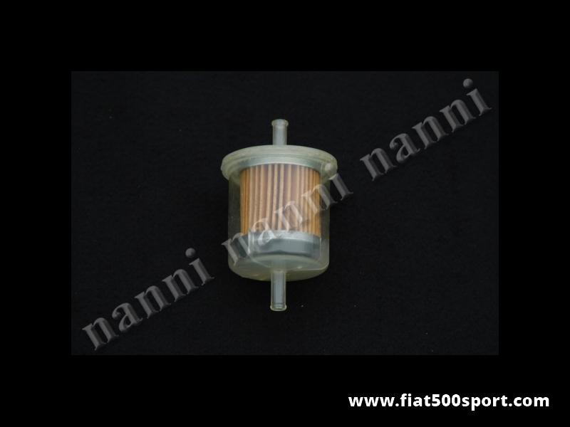 Art. 0140F - Filtro benzina originale Fispa con beccucci diam. 6 mm. - Fispino filtro benzina originale Fispa per Fiat 500/126, Giardiniera, Abarth, Giannini. ( beccucci diam. 6 mm.)