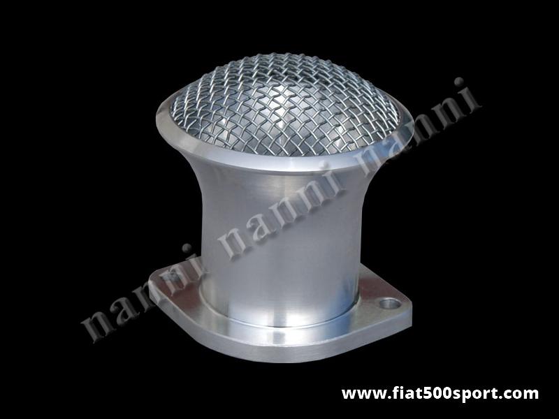 Art. 0143 - NANNI light alloy admission pipe with net (40 mm. Ø) for carburettor Alfa Romeo Giulia. - NANNI light alloy admission pipe with net (40 mm. Ø) for corburettor Weber DCOE, Dell'Orto DHLA.