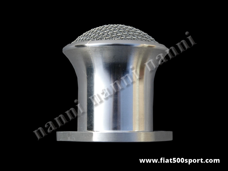 Art. 0144 - Admission  pipe light alloy NANNI with net (45 mm. Ø) for carburettor Alfa Giulia 1750/2000. - NANNI light alloy admission pipe with net (45 mm. Ø) for carburettor Weber DCOE, Dell'Orto DHLA.