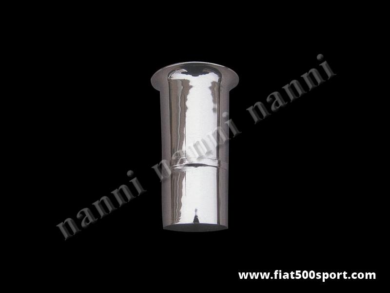 Art. 0148 - Weber 40 DCOE NANNI chromed steel admission pipe Ø 40 mm. - Weber 40 DCOE NANNI chromed steel admission pipe Ø 40 mm. (Carburettor Alfa Giulia ,Peugeot 205)