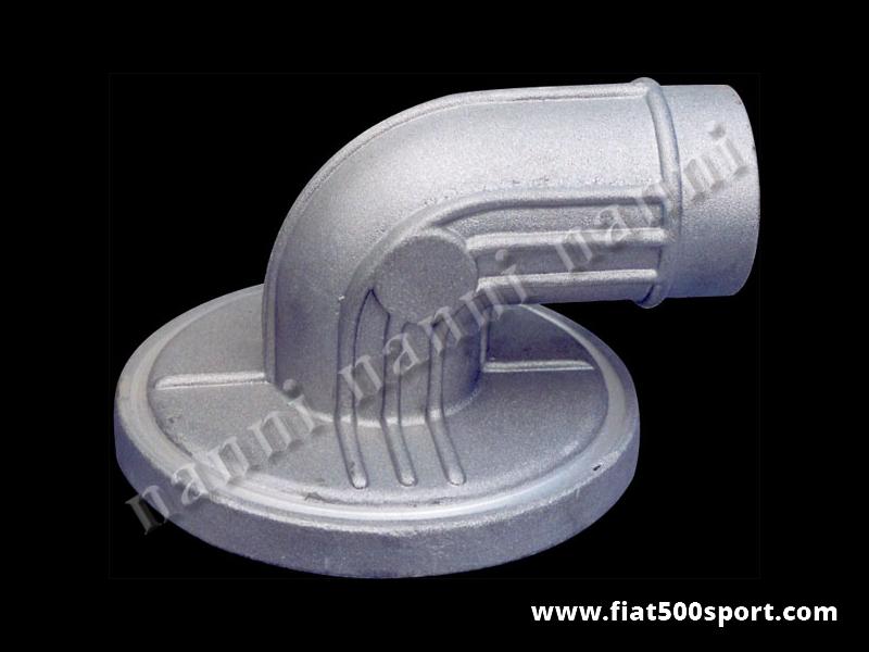 Art. 0152 - Coperchio filtro aria Fiat 500 Fiat 126 Giannini Abarth in alluminio con tubo diametro 60 mm. - Coperchio filtro aria Fiat 500 Fiat 126 in alluminio tipo Giannini/Abarth con tubo diametro 60 mm.