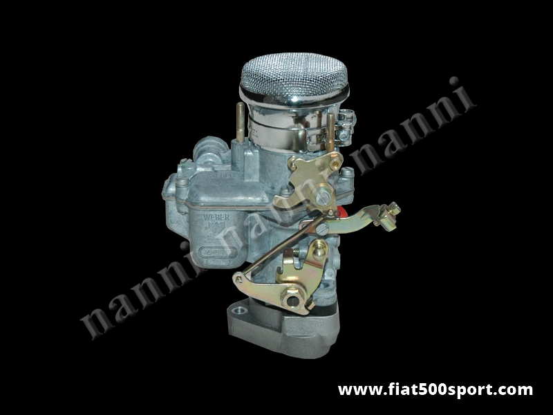 Art. 0170c - Fiat 500 Fiat 126 carburettor Weber Ø 30 mm iba  with manifold and chromed steel adminssion pipe - Fiat 500 Fiat 126 Carburettor Weber Ø 30 mm. iba with manifold and chromed steel adminssion pipe.