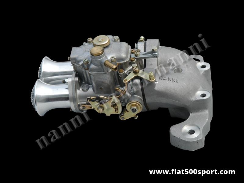 Art. 0173a - Carburettor  twin-choke diam. 32 mm horizontal Weber over Panda 30 head. - Carburettor twin-choke diam. 32 mm horizontal Weber over Panda 30 head over the engine Fiat 500 Fiat 126. Complete kit.