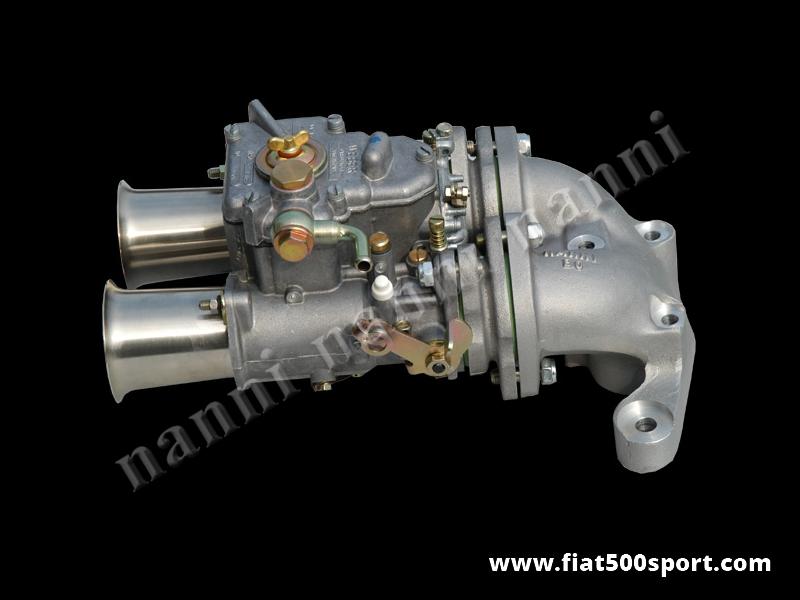 Art. 0175c - Fiat 500 Fiat 126 Carburettor twin-choke diam. 40 mm horizontal Weber  over Panda 30 head. - Fiat 500 Fiat 126 Carburettor twin-choke diam. 40 mm horizontal Weber over Panda 30 head.