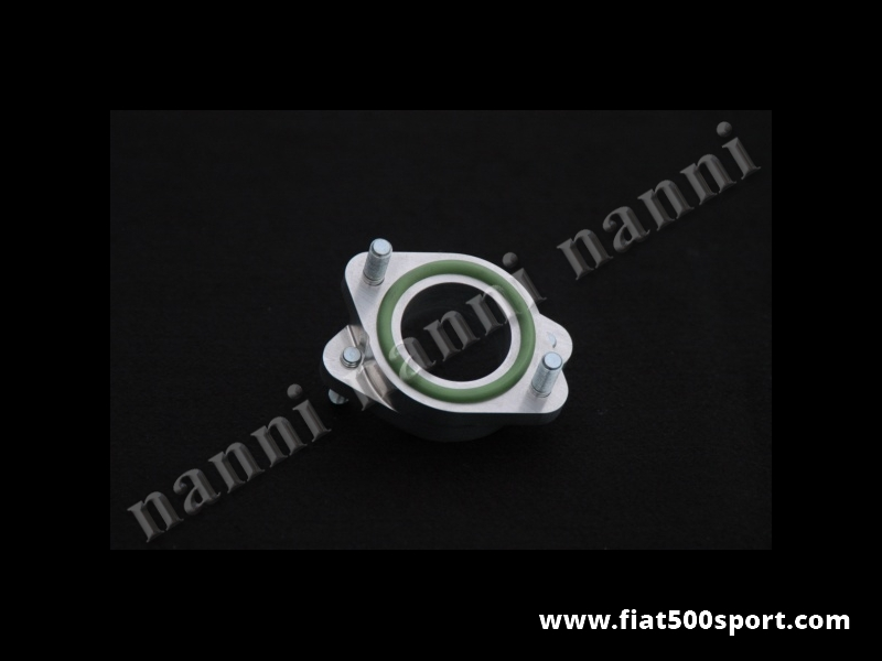 Art. 0176 - Inlet manifold light alloy spacer NANNI for twin choke horizontal carburettor Ø 40 mm. - Inlet manifold light alloy spacer NANNI for twin choke horizontal carburettor Ø 40 mm. (Weber 40 DCOE , Dell'Orto 40 DHLA, Solex …)