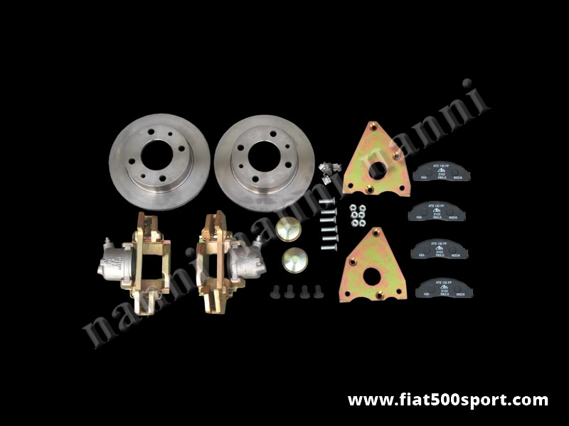 Art. 0179 - Fiat 126  Fiat 500 Giardiniera front brake rotor conversion kit. - Fiat 126 Fiat 500 Giardiniera front brake rotor conversion kit. Complete.
