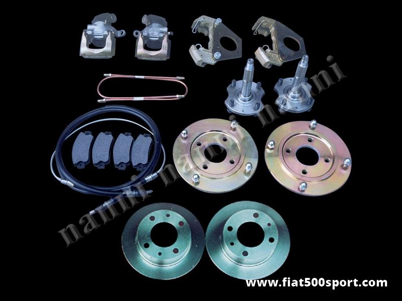 """Art. 0181 - Fiat 500 12"""" steel weels rear brake rotor conversion kit. - Fiat 500  12"""" steel weels rear brake rotor conversion kit."""