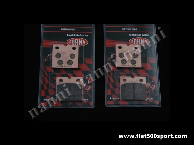 Art. 0182P - Brake pad sintered set for our kit 0182-0185. - Brake pad sintered set for our kit 0182-0185.