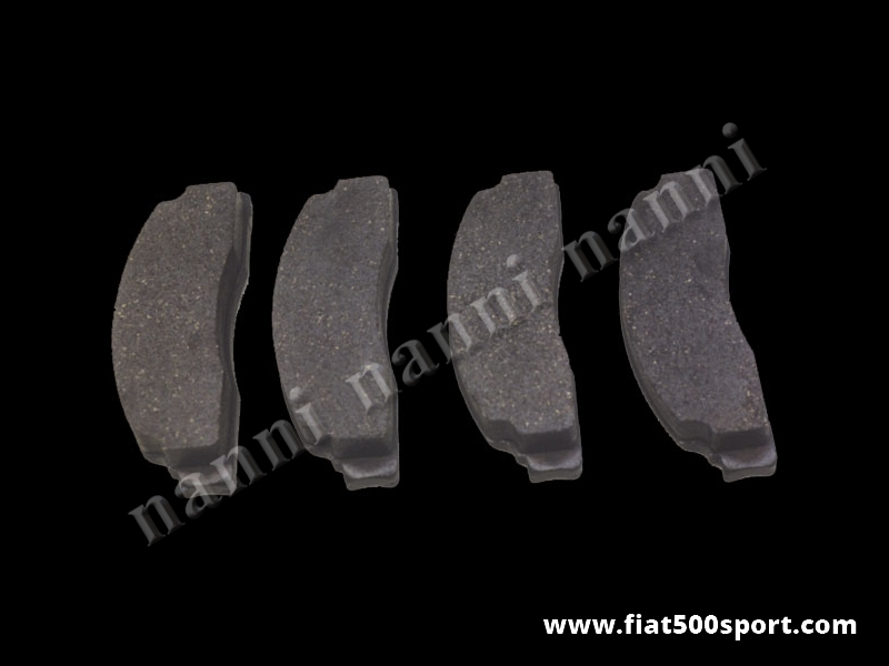 "Art. 0183 - Brake pad set Fiat 500 Fiat 126 for front brake rotorconversion kit 12-13"". - Brake pad set Fiat 500 Fiat 126 for front brake rotor conversion kit 12-13""."