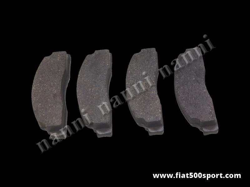 Art. 0183 - Pastiglie Fiat 500 Fiat 126  freni anteriori perkit da 12-13 pollici - Pastiglie Fiat 500 Fiat 126 freni anteriori per kit da 12-13 pollici. Kit completo.