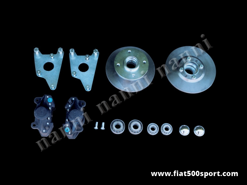 "Art. 0185 - Fiat 126 and Giardiniera 10""-12""-13"" wheels Brembo front brake rotor conversion kit. - Fiar 126 and Giardiniera 10""-12""-13"" wheels Brembo front brake rotor conversion kit."