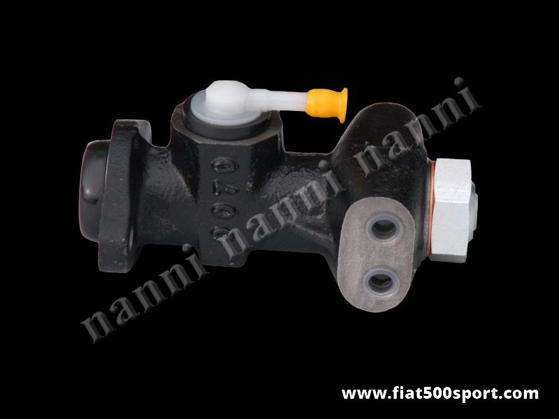 Art. 0189 - Mini servo Fiat 500 F L R  Bendix (piccolo servofreno). Aumenta la potenza della frenata del 30%. Indispensabile per gli impianti frenanti a disco. - Mini servo Fiat 500 F L R Bendix (piccolo servofreno).E' una pompa freni maggiorata per Fiat 500 F/L/R che sostituisce perfettamente la pompa freni originale. Aumenta la potenza della frenata del 30%. Indispensabile per gli impianti frenanti a disco.
