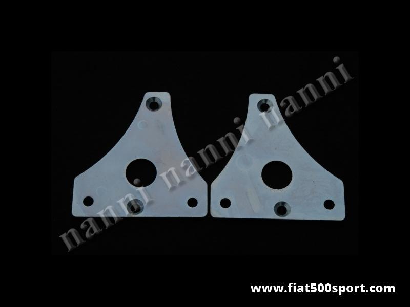 Art. 0191 - Flange Fiat 500 in acciaio per attaccare la pinza Bendix ai perni fusi 500. - Flange Fiat 500 in acciaio (destra e sinistra) per attaccare la nostra pinza Bendix ai perni fusi 500.(2 pezzi).