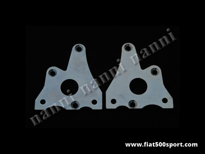 Art. 0192 - Flange Fiat 126 in acciaio per attaccare la pinza Bendix ai perni fusi 126 Personal. - Flange Fiat 126 ( destra e sinistra ) per attaccare la nostra pinza Bendix ai perni fusi 126 Personal.(2 pezzi).