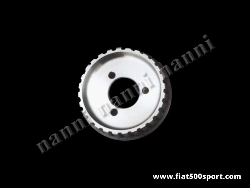 Art. 0204 - Puleggia dinamo Fiat 500 Fiat 126 dentata NANNI in ergal. - Puleggia dinamo Fiat 500 Fiat 126 dentata NANNI in ergal.