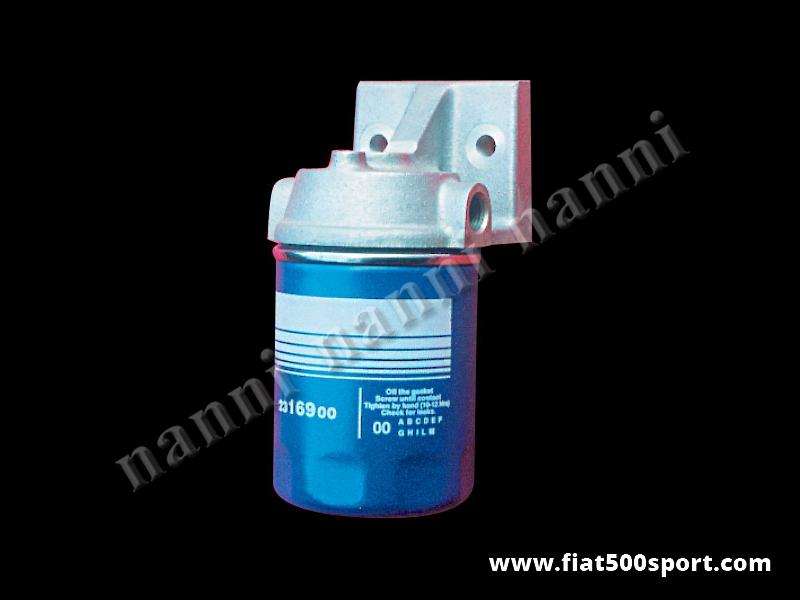 Art. 0209 - Supporto Fiat 500 Fiat 126 NANNI con filtro olio per vano motore - Supporto Fiat 500 Fiat 126 NANNI in alluminio con filtro olio per vano motore.