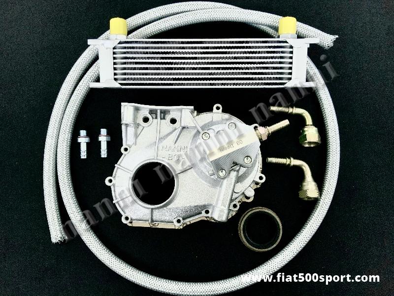 Art. 0215 - Fiat 500 Fiat 126 apply complete kit for oil cooler NANNI. - Fiat 500 Fiat 126 apply complete kit NANNI for oil cooler. For the oil cooler sizes see our art. 0217.