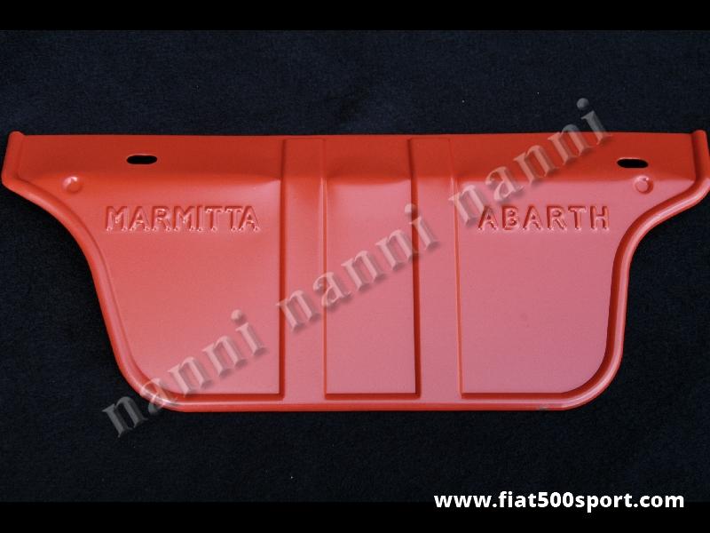 Art. 0235 - Fiat 500 Fiat 126 Abarth sheet steel warm-protector for muffler. - Fiat 500 Fiat 126 Abarth sheet steel warm-protector for muffler.