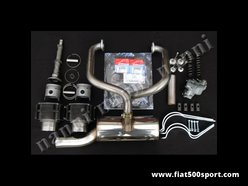Art. 0250 - Fiat 500 F L  piston-liner kit NANNI for up-grading engine (595 CC 40 HP). - Fiat 500 F L NANNI complete piston-liner kit for up-grading engine (595 CC 40 HP).