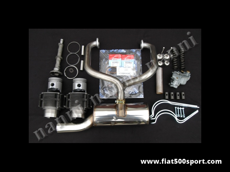 Art. 0251R - Fiat 500 R piston-liner kit NANNI for up grading engine (650 cc. 40 HP). - Fiat 500 R piston liner kit NANNI complete for up grading  engine (650 cc. 40 HP).