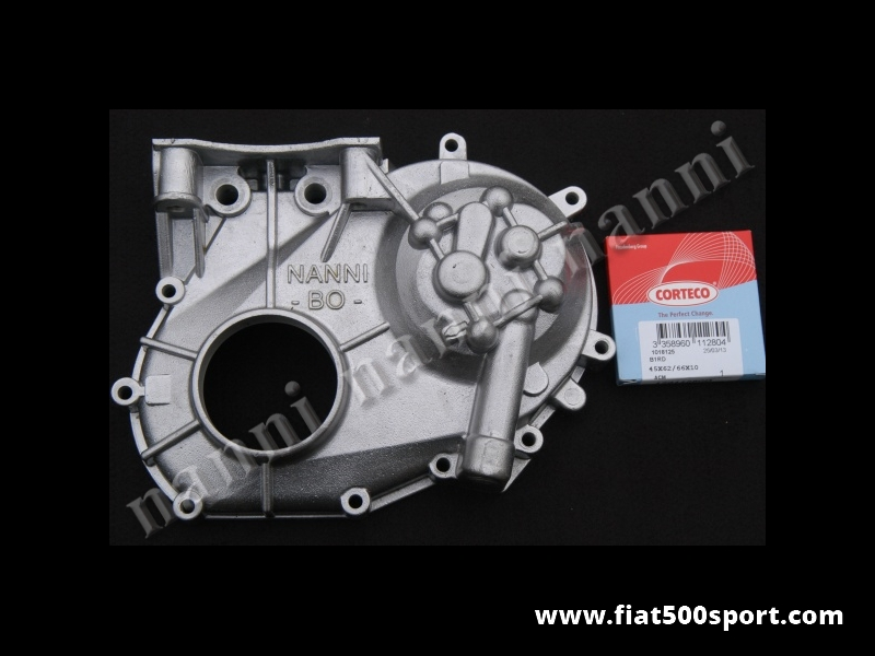 Art. 0256 - Timing case cover Fiat 500 R Fiat 126 original NANNI. - Fiat 500 R Fiat 126 original Nanni timing case cover.