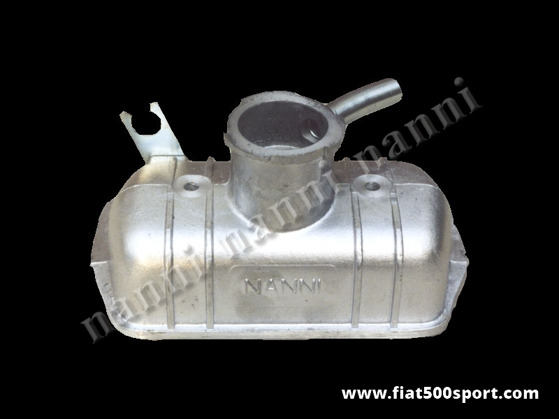 Art. 0260 - Coperchio punterie Fiat 500 F L R Fiat 126 NANNI   in alluminio. - Coperchio punterie Fiat 500 F L R Fiat 126 NANNI in alluminio. Si può montare anche il carburatore originale Weber 26/28 IMB.