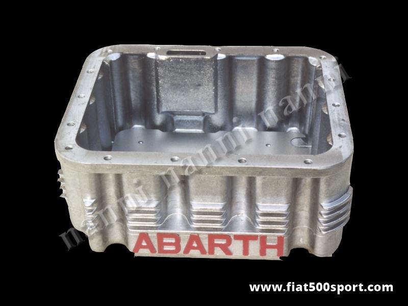 Art. 0275 - Coppa olio Abarth  Fiat 500 Fiat 126 da 4 litri in alluminio. - Coppa olio Abarth Fiat 500 Fiat 126 da 4 litri. Con questa coppa olio occorre acquistare anche gli art.0280 e 0281. E' predisposta per il montaggio del bulbo della temperatura dell' olio. Le nostre coppe olio sono tutte impregnate con Loctite per garantire una impermeabilità al 100%.