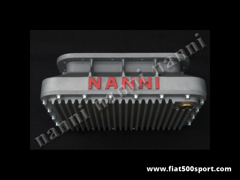 Art. 0276 - Sump Fiat 500 Fiat 126 NANNI light alloy  4 liters with demountable bottom. - Fiat 500 Fiat 126 sump NANNI light alloy 4 liters with demountable bottom.