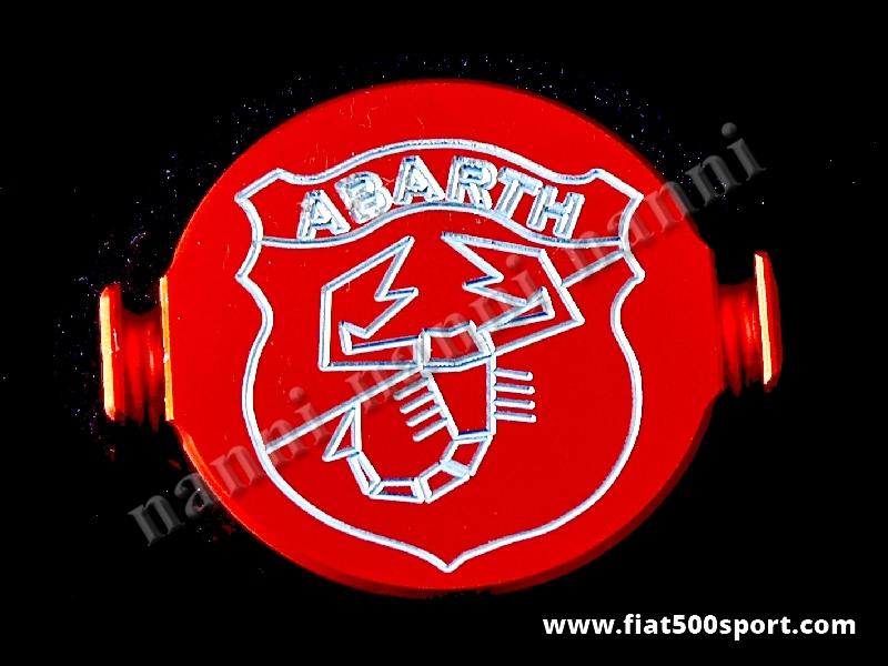 Art. 0277 - Coperchio spinterogeno Fiat 500 Fiat 126 Abarth in alluminio. - Coperchio spinterogeno Fiat 500 Fiat 126 Abarth in alluminio.