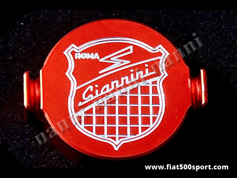 Art. 0278 - Coperchio spinterogeno Fiat 500 Fiat 126 Giannini in alluminio. - Coperchio spinterogeno Fiat 500 Fiat 126 Giannini in alluminio.