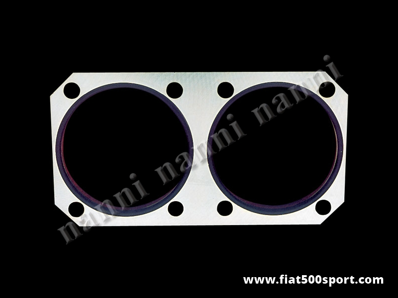 Art. 0287 - Steel plate Fiat 500 F L NANNI  to reinforce the  cylinder block (for 700 cc). 12 mm.high. - Fiat 500 F L steel plate NANNI to reinforce the cylinder block (for 700 cc). 12 mm. high.