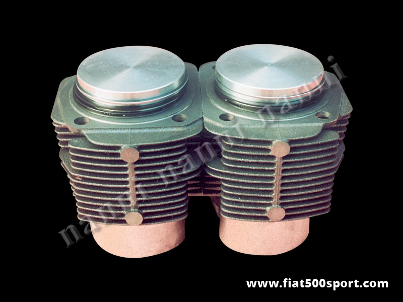 Art. 0321 - Piston liner kit Fiat 500 R original 595 cc, Ø 73,5 mm. - Fiat 500 R piston-liner kit 595 cc, Ø 73,5. NANNI cylinders don't require the head gasket, but need the copper rings our art. 0427.