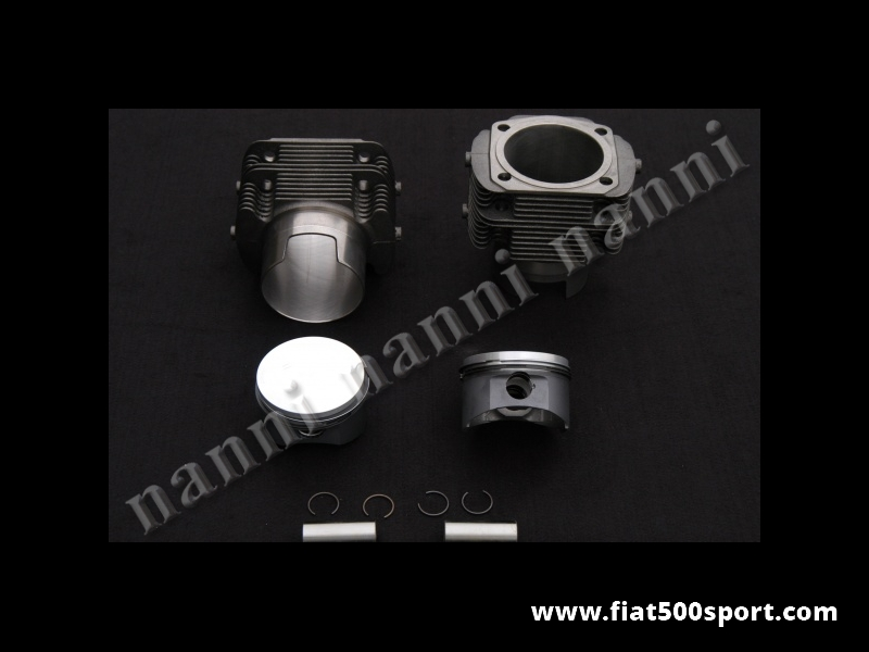 Art. 0325 - Piston-liner kit forged Fiat 500 Fiat 126  695 cc. Ø 79,5 mm for up-grading the engine. (NANNI cylinders). - Forged piston-liner kit Fiat 500 Fiat 126 695 cc. Ø 79,5 mm for up-grading the engine. (NANNI cylinders don't require the head gasket). Fiat 500 engine require our steel plate art.0287. Cylinders need the copper rings our art. 0428.