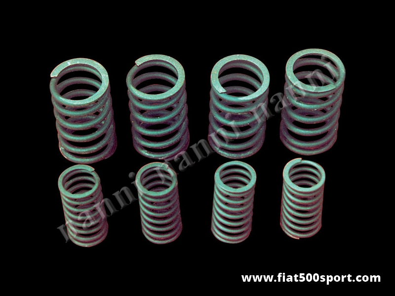 Art. 0371 - Molle valvole Fiat 500 Fiat 126 NANNI  rinforzate interne ed esterne (8 pezzi) - Molle valvole Fiat 500 Fiat 126 rinforzate NANNI interne ed esterne (8 pezzi) per motori che girano fino a 7000 giri al minuto.