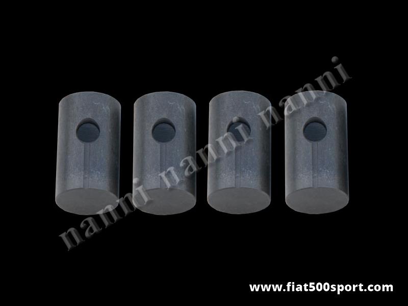 Art. 0386 - Bicchierini punterie Fiat 500 Fiat 126 ,  misura standard. - Bicchierini punterie Fiat 500 Fiat 126 misura standard. Serie di 4 pezzi.