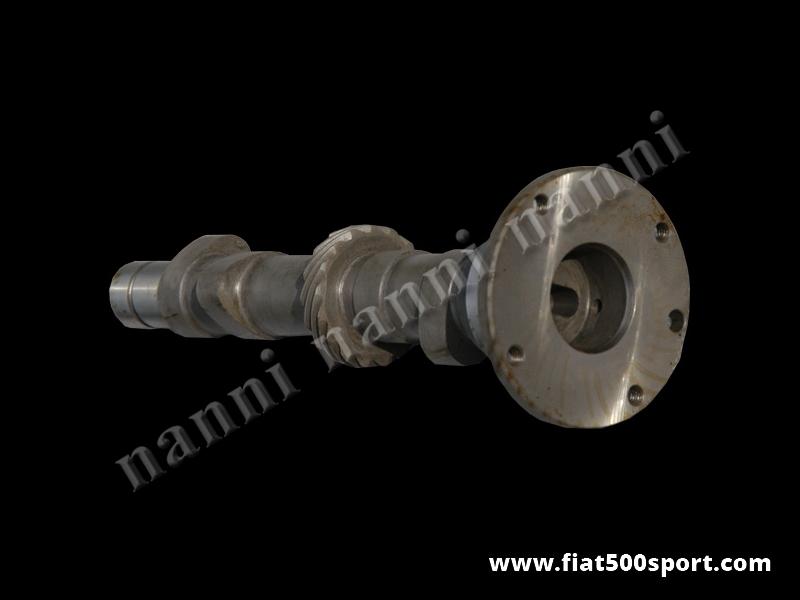 Art. 0412 - Albero a cammes Fiat 500 Fiat 126 NANNI nuovo in acciaio nitrurato 63/93 corsa in pista. - Albero a cammes Fiat 500 Fiat 126 NANNI nuovo in acciaio nitrurato diagramma 63/93 corsa in pista (ricavato da una barra di acciaio speciale per cammes).