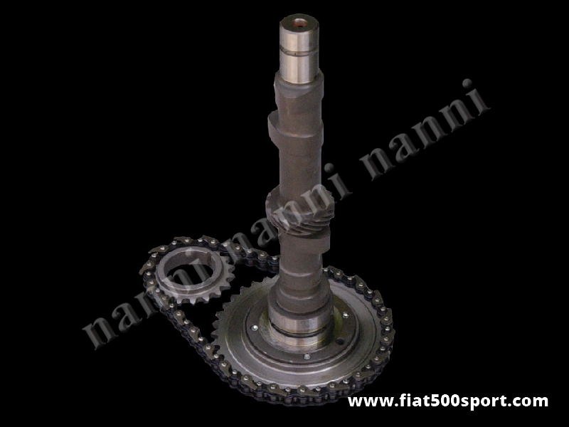 Art. 0412F - Camshaft Fiat 500 Fiat 126 original NANNI racing timed hardened steel 63/93. (For racing circuit). - Camshaft Fiat 500 Fiat 126 original NANNI racing timed hardened steel 63/93.(For racing circuit).