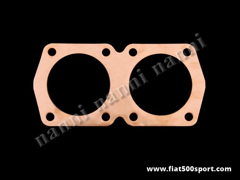 Art. 0421 - Guarnizione testa  Fiat 500 Fiat 126, NANNI in rame ricotto per motore 650 cc Ø 77 mm, spessore 6/10 mm - Guarnizione testa Fiat 500 Fiat 126 NANNI in rame ricotto per motore 650 cc Ø 77 mm, spessore 6/10 mm.