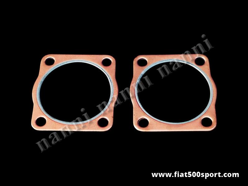 Art. 0433 - Gasket head copper Fiat 800 cc. engine 85 mm. bore, h. 15/10 mm. (2 pieces). - Head copper gasket Fiat 800 cc.engine 85 mm. bore, h. 15/10 mm. (2 pieces).