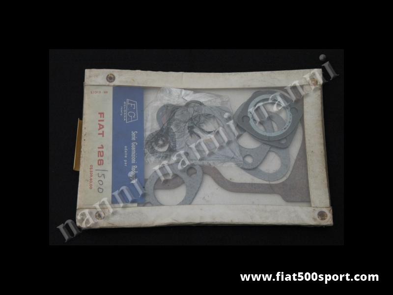 Art. 0438S - Gaskets  Fiat 500 Fiat 126 upper engine set . - Gaskets Fiat 500 Fiat 126 upper engine set.
