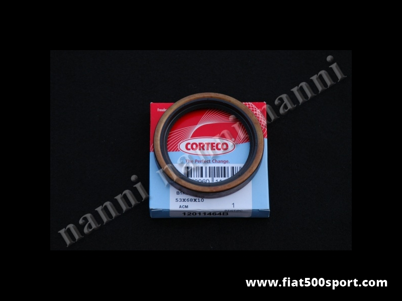 Art. 0443 - Oil seal crankshaft Fiat 500 Fiat 126 (flywheel side). - Crankshaft oil seal Fiat 500 Fiat 126 (flywheel side). Size: 53x68x10.