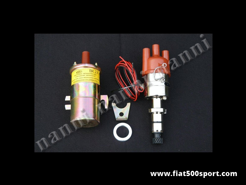 Art. 0447 - Fiat 500  Fiat 126 new electronic ignition distributor.( without coil). - Fiat 500 Fiat 126 new electronic ignition distributor. (Without coil).