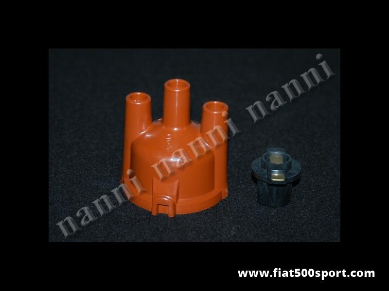 Art. 0447K - Calotta e distributore rotante Fiat 500 Fiat 126 per accensione elettronica art. 0447. - Calotta e distributore rotante Fiat 500 Fiat 126 per accensione elettronica art. 0447.