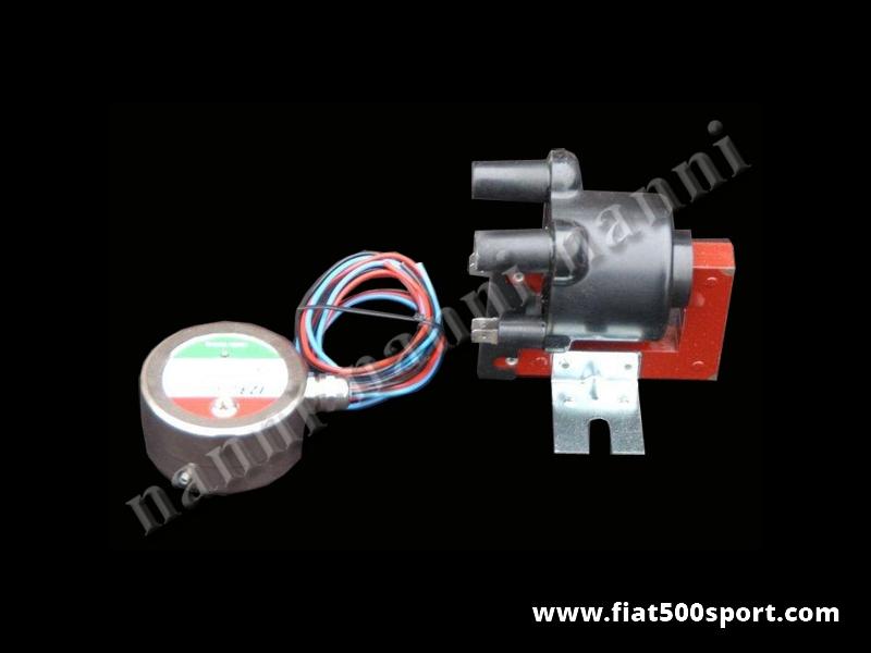 Art. 0447R - Accensione elettronica Fiat 500 Fiat 126 ad anticipo variabile. (Senza bobina) - Accensione elettronica Fiat 500 Fiat 126 ad anticipo variabile. Utilizza la doppia bobina della Panda 30 per incrementare le prestazioni del motore e ridurre i consumi.(la bobina non è' in dotazione.)