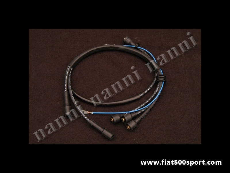 Art. 0447V - Fiat 500 Fiat 126 silicone spark plugs leads set. - Fiat 500 Fiat 126 silicone spark plugs leads set.